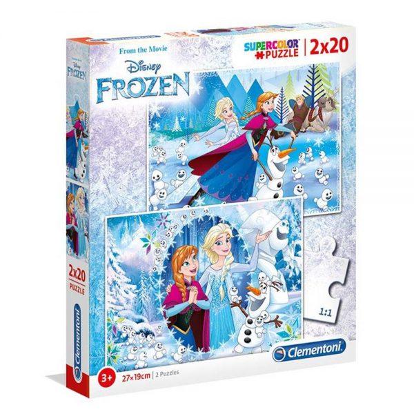 Clementoni puzzle Frozen 2 x 20kom