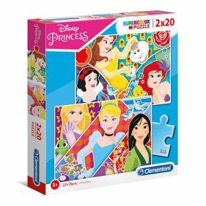 Clementoni puzzle Princeze 2 x 20kom