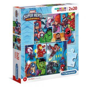 Clementoni puzzle Super Hero 2 x 20kom