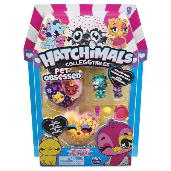 Hatchimals figurice Pet Obsessed 3 kom