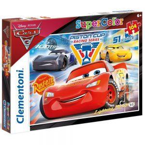 Clementoni puzzle Cars Supercolor 104 komada
