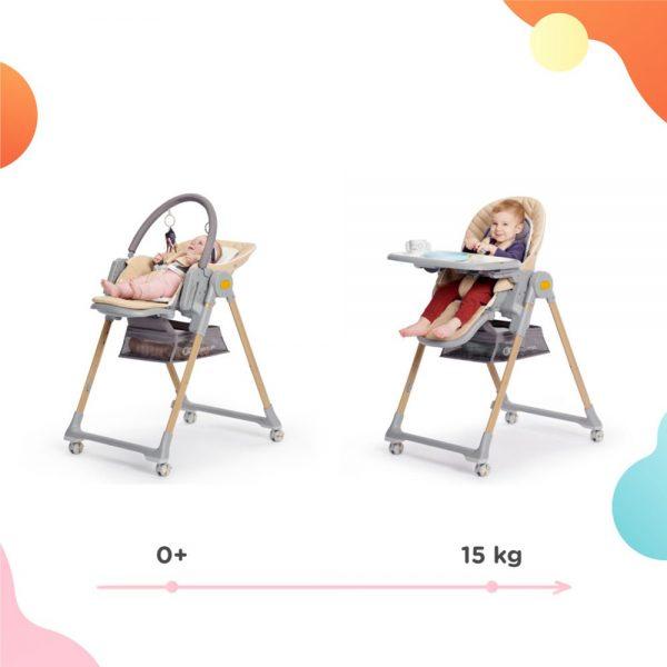 Dječja hranilica Kinderkraft Lastree 2 u 1 nosivosti do 15kg