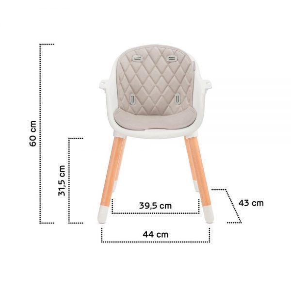 Dječja hranilica Kinderkraft Sienna dimenzije stolice