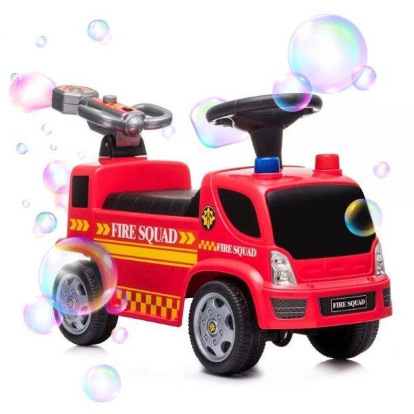 Dječja guralica Vatrogasni kamion s puhalicom