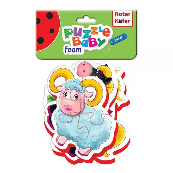 Pjenaste puzzle za bebe Farma