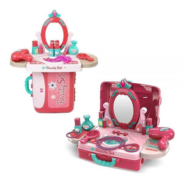 Dječji stolić za uljepšavanje u koferu
