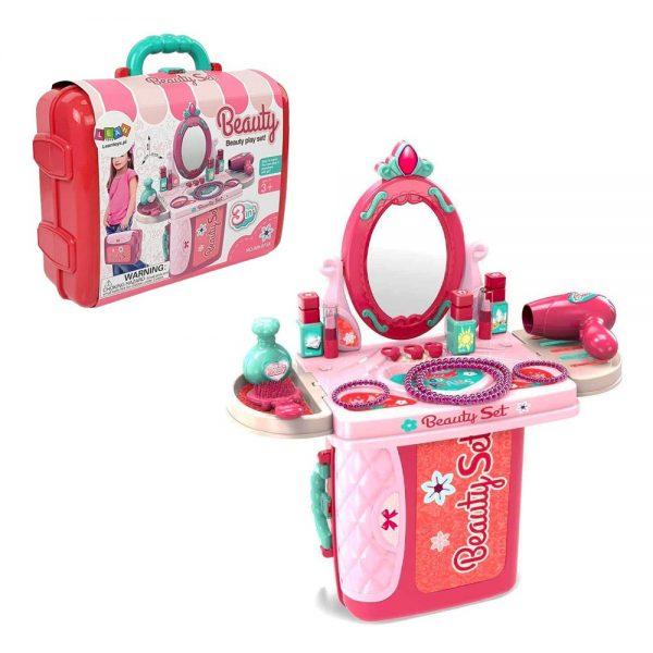 Dječji toaletni stolić u kovčegu