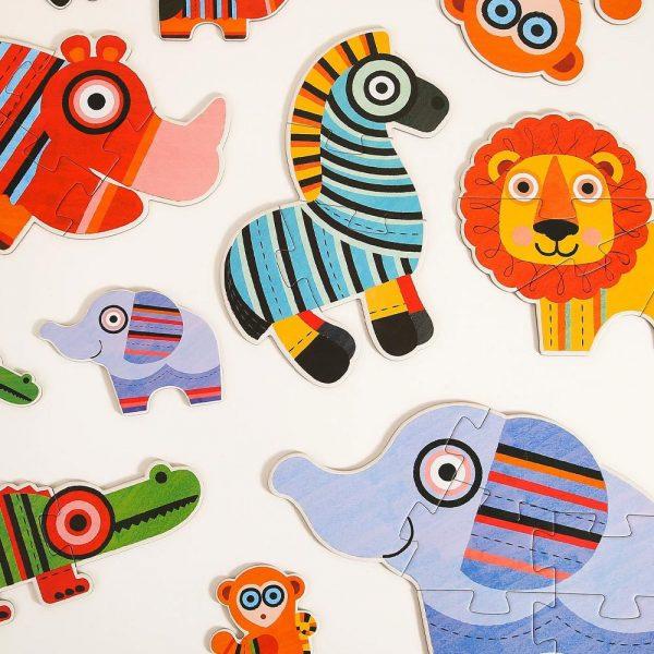 Mideer velike dječje puzzle s divljim životinjama